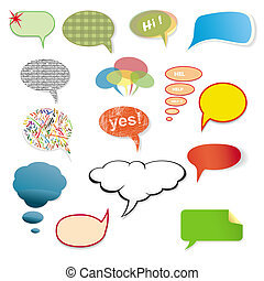 Original various speech bubbles on a white background.