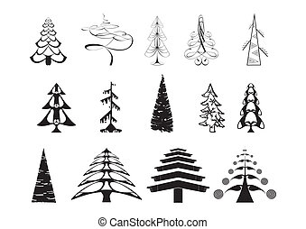 Original vector art Christmas tree
