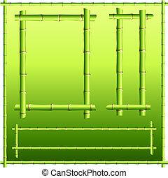 bamboo border elements