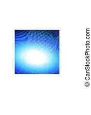 binary code on blue internet background