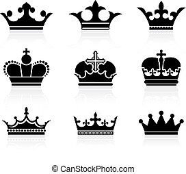 crown design collection - Original vector illustration: ...