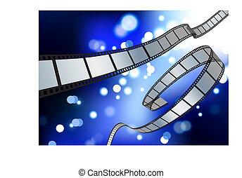 film reel blue glow internet background