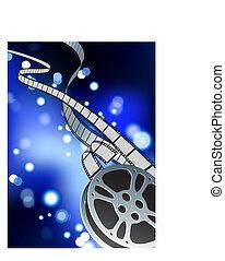 film reel internet background