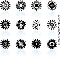 floral design collection - Original vector illustration: ...