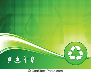 Green environment background