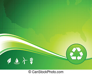 green environment US map background