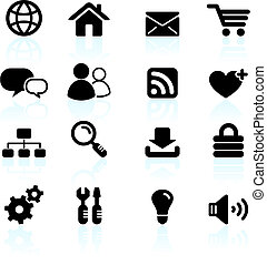 internet design icon set - Original vector illustration:...