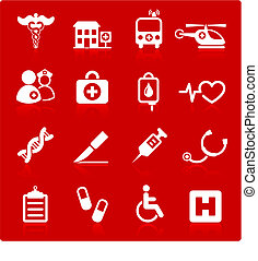 medical hospital internet icon collection - Original vector ...
