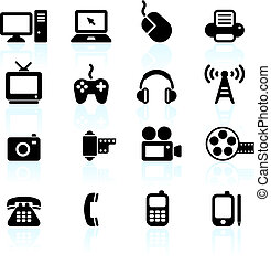 technology and communication design elements - Original ...