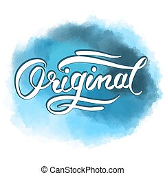Original word hand lettering. Vector Artwork Concept. Ready...