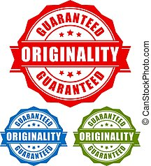 Originality guaranteed labels set