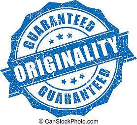 Originality guaranteed vector stamp isolated on white...