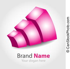 vector brand purple logo