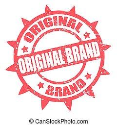 origineel, brand-stamp