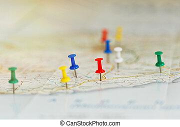 orilla de mar, viaje, planificación, concepto