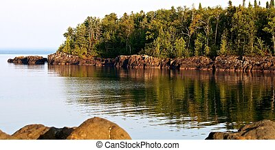 orilla rocosa, magnífico, marais, minnesota