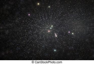 Orion Constellation 3D Illustration - Orion greek hunter ...