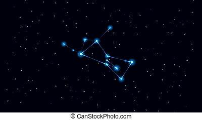 Orion Constellation - Cartoon constellation of Orion in...