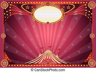 orizzontale, circo, magia, fondo