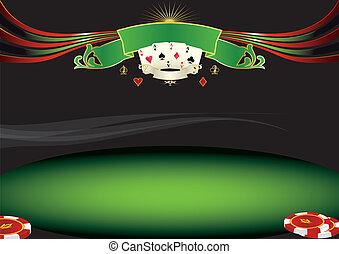 orizzontale, poker, fondo