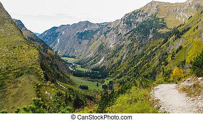 orizzontale, valle, alpino