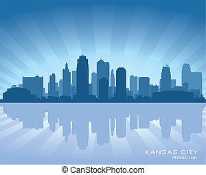 orizzonte, città, kansas, missouri