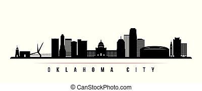 orizzonte, città, orizzontale, oklahoma, banner.