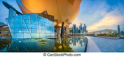 orizzonte, fondo, singapore