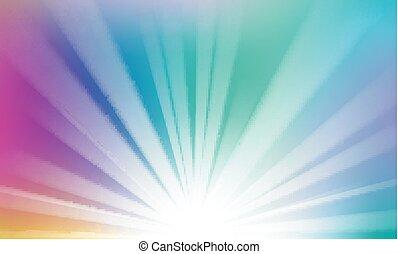 orizzonte, raggi, salita, colorito, fondo