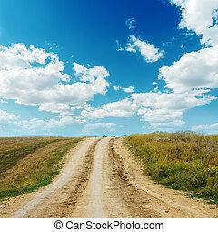 orizzonte, sporco, strada