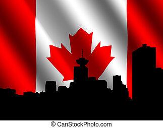 orizzonte, vancouver, bandiera, canadese