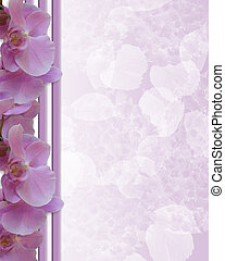 orkidéer, lavendel, gräns, skrivpapper