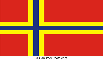 orkney flag - very big size orkney islands flag illustration