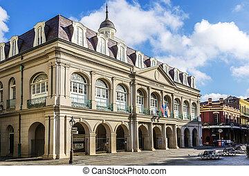 orléans, état, musée, carrée, louisiane, jackson, nouveau