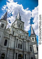 orléans, louis, saint, cathédrale, nouveau