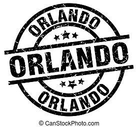 Orlando black round grunge stamp