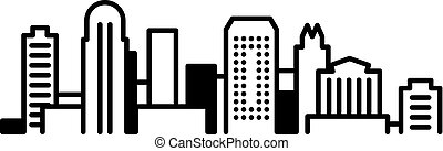 Orlando City Icon - Simple icon illustration of the skyline...