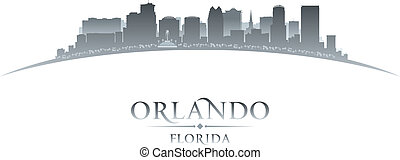 Orlando Florida city silhouette white background - Orlando...