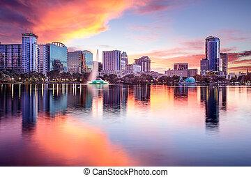 Orlando, Florida Skyline - Orlando, Florida, USA downtown...
