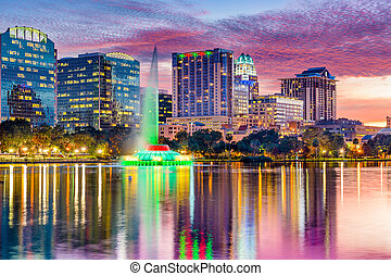 Orlando, Florida Skyline - Orlando, Florida, USA skyline at...