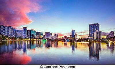 Orlando Florida Skyline - Orlando, Florida, USA skyline at...