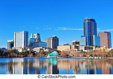 Orlando morning - Orlando Lake Eola in the morning with...