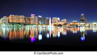 Orlando panorama - Orlando downtown skyline panorama over...