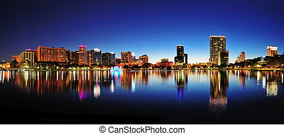 Orlando panorama - Orlando downtown skyline panorama over ...