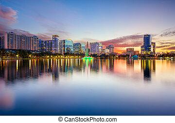 Orlando Skyline - Orlando, Florida, USA downtown city ...