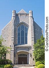 orleans, entrada, frente, marco, igreja, fachada, novo