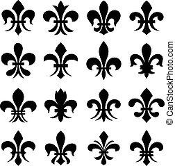 orleans, símbolo, lis, fleur, de