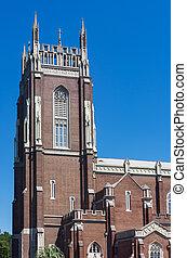 orleans, sino, histórico, igreja, novo, torre