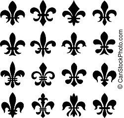orleans, symbol, de, fleur, lis