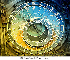 Orloj astronomical clock in Prague in Czech Republic